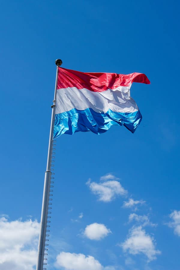 Luxembourg Flag in the wind